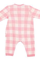 Angel Dear Gingham Kimono Wrap Pink 0/3M, 3/6M