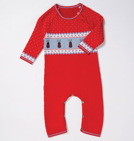 Angel Dear Reindeer Knit Coverall 0/6M-6/12M