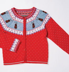 Angel Dear Reindeer Knit Cardigan 3/6M