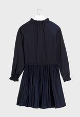 Mayoral Pleated Dress Navy 8-14