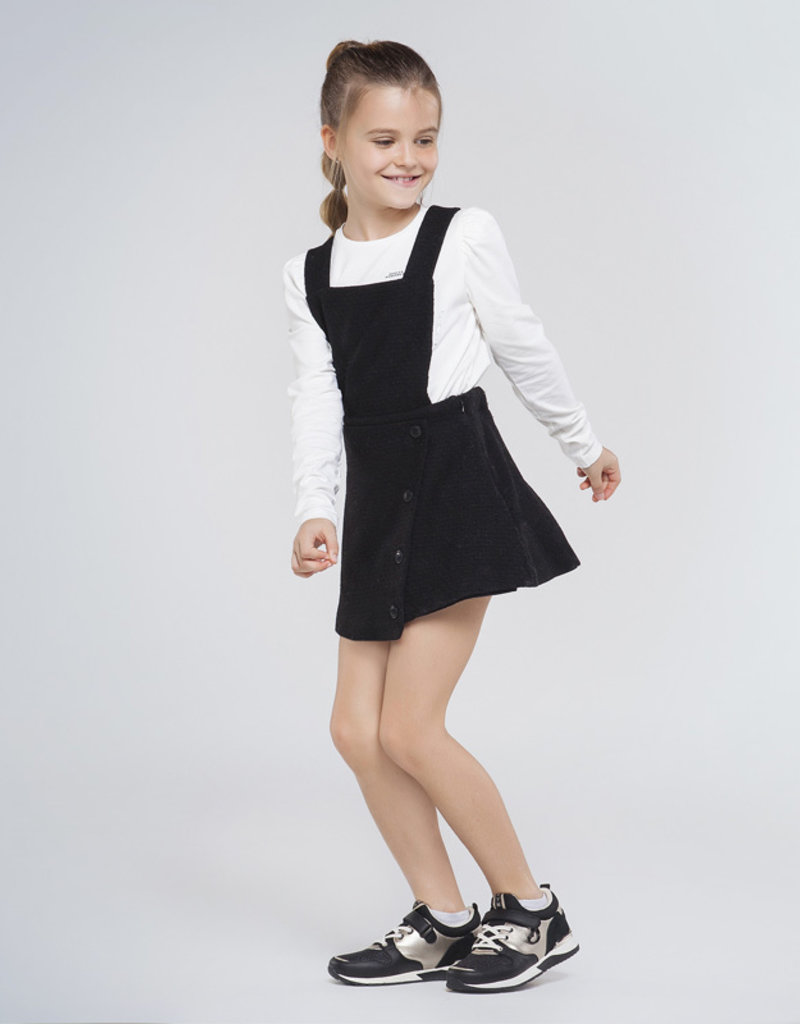 Mayoral Asymmetric Overall Skirt Black 8-10
