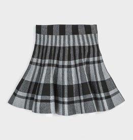 Mayoral Pleated Plaid Skirt Steel 8-16