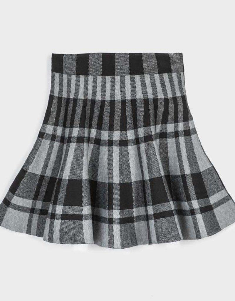 Mayoral Pleated Plaid Skirt Steel 8-18
