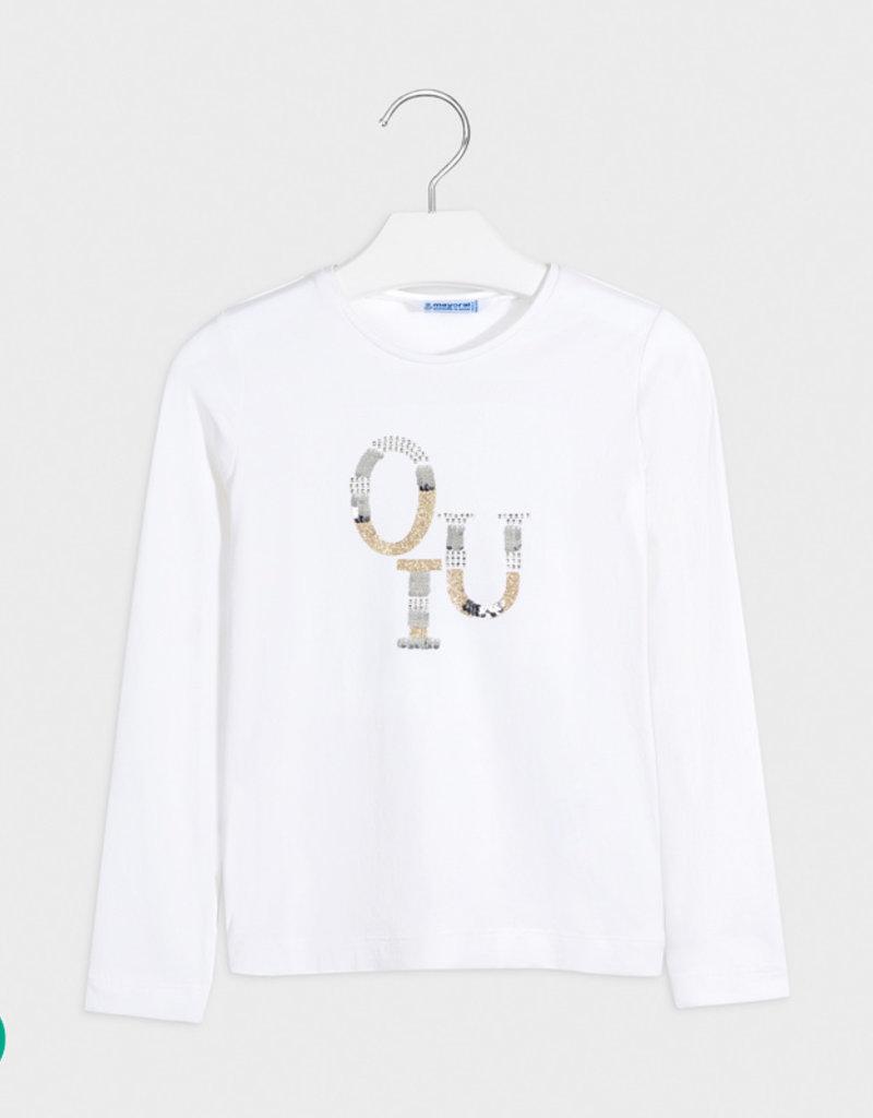 Mayoral OIU L/S Top White