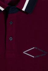Mayoral L/S Polo w/back Design Burgandy
