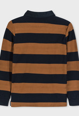 Mayoral L/S Striped Polo Brown