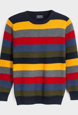 Mayoral Multi Stripe Sweater Blueberry 8, 10