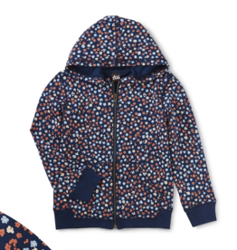 Tea Collection French Terry Hoodie Mountainside Wildflowers 2T-10