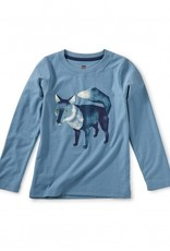 Tea Collection Fox Graphic Tee Aegean Blue 2T-10