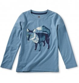 Tea Collection Fox Graphic Tee Aegean Blue 2T