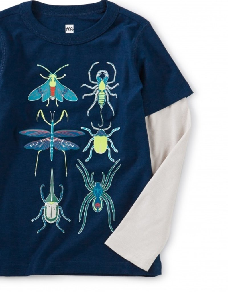 Tea Collection Bugging Out Graphic Tee Blue