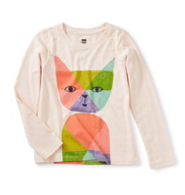 Tea Collection Rainbow Cat Graphic Tee 2T-12
