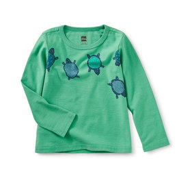 Tea Collection Totally Turtle Graphic Tee 6/9M-4T