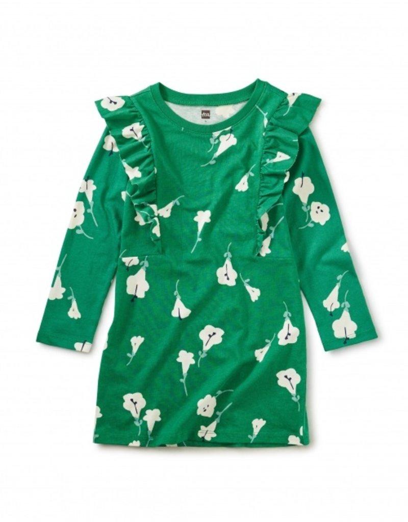 Tea Collection Ruffle Dress Very Verde 2T-12