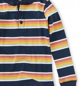 Tea Collection L/S Striped Henley Top 2T-12