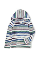 Tea Collection Striped Happy Hoodie Chalk