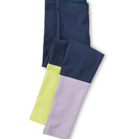 Tea Collection Colorblock Leggings Whale Blue 2T-8