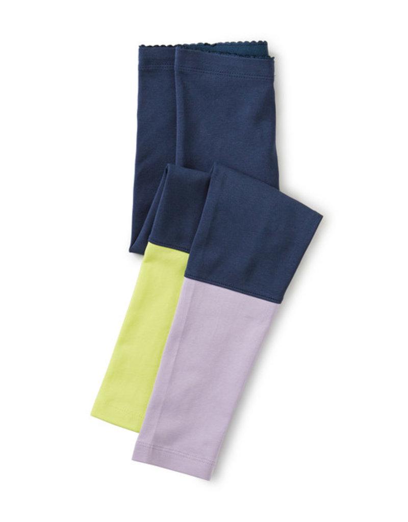 Tea Collection Colorblock Leggings Whale Blue 2T-8