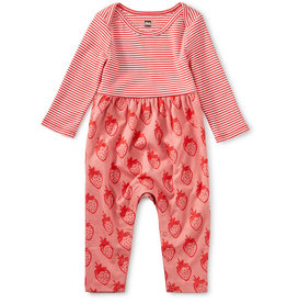 Tea Collection Two Tone Romper Fresa Fields 18/24M