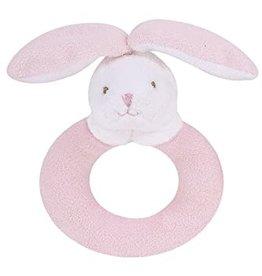 Angel Dear Ring Rattle Pink Bunny