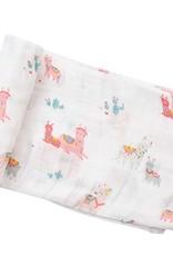 Angel Dear Swaddle Blanket Pink Llama