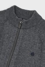 Mayoral Woven Knit Jacket Gray 2-9