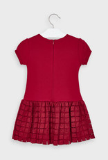 Mayoral Tulle Plaid Dress Red 2-9