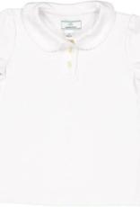 Classic Prep Sarah S/S Pima Polo White 12/18M-10