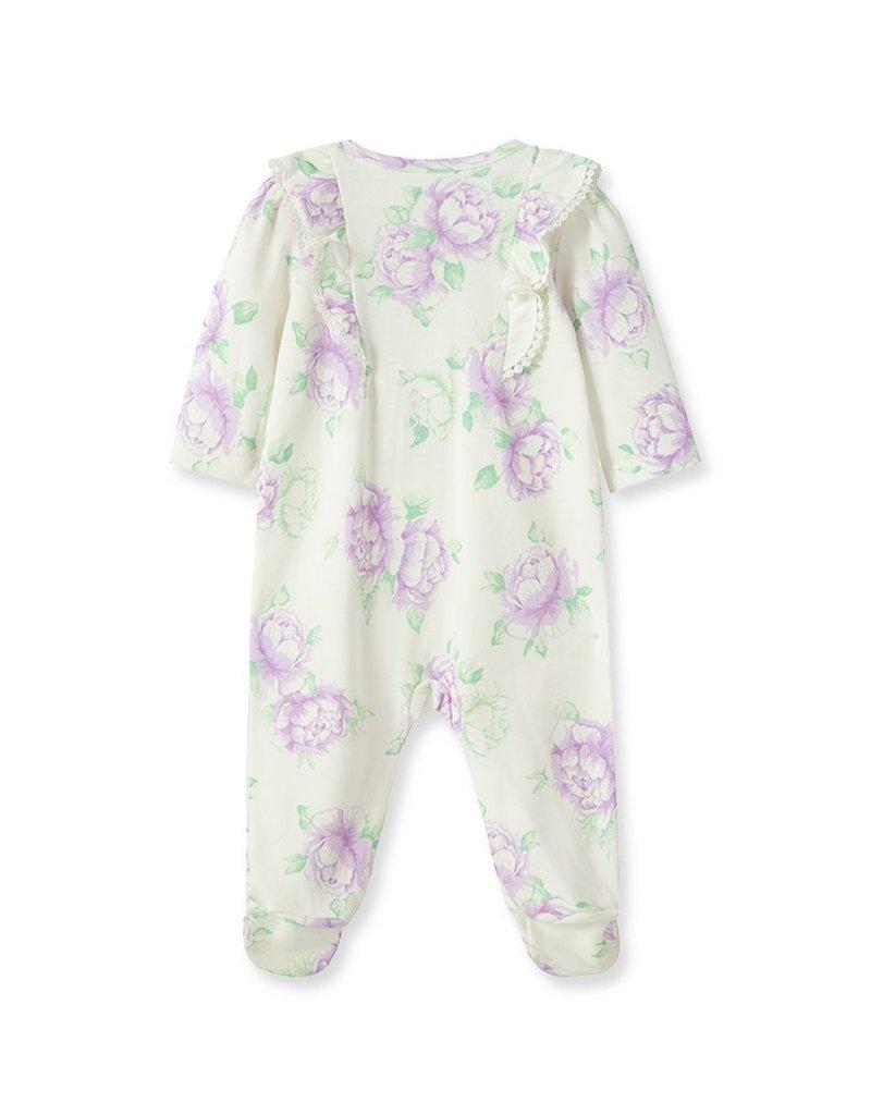 Little Me Lavish Blooms Footie w/Hat NB-9M