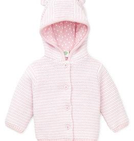 Little Me Pink Texture Cardigan 3M-9M