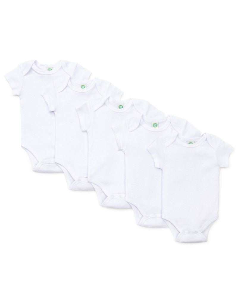 Little Me White 5-Pack Bodysuits 3M-12M