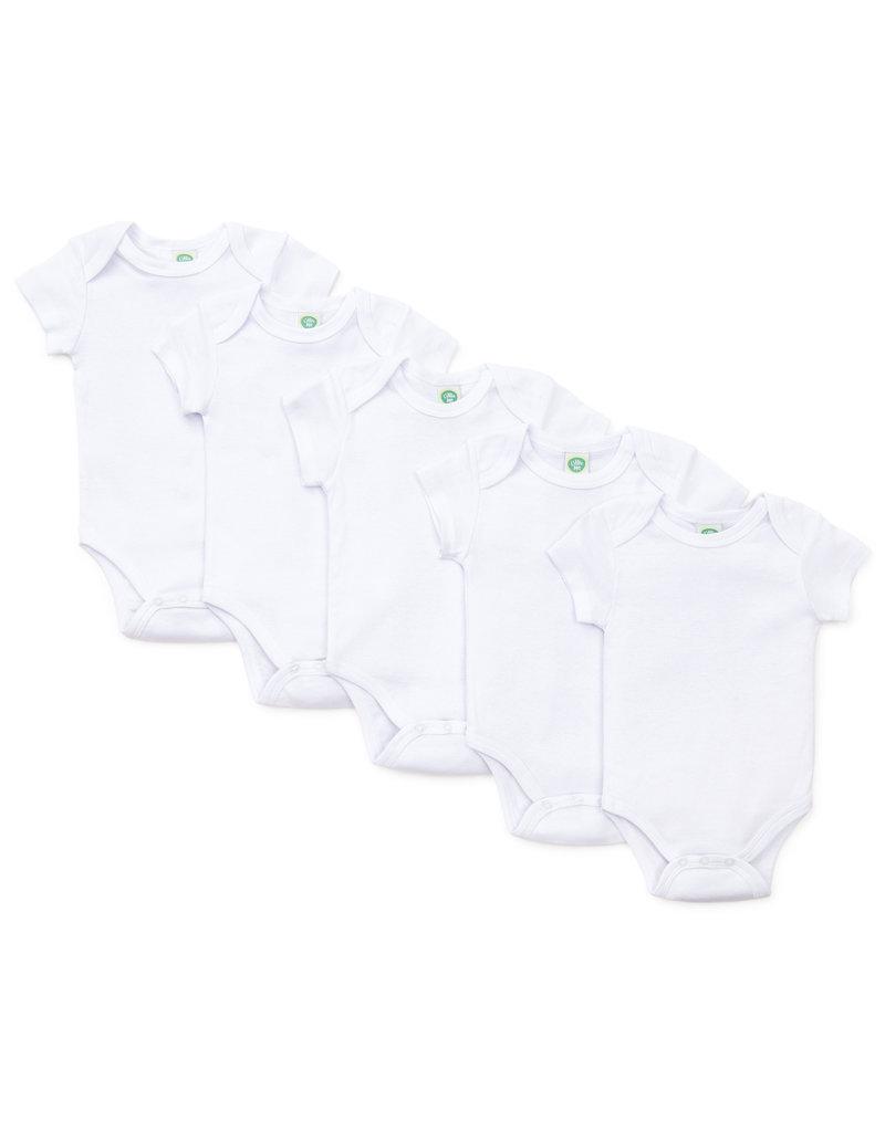 Little Me White 5-Pack Bodysuits
