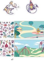 Djeco Sticker Stories The Fun Fair