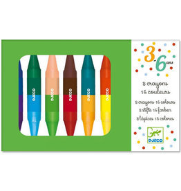 Djeco 8 Twin Crayons