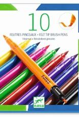 Djeco 10 Felt Tip Brush Pens Classic