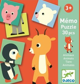 Djeco First Games Animal Memory Puzzle