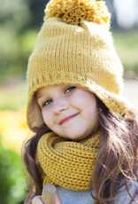 Peppercorn Kids Fringe Pompom Ear Flap Beanie Mustard S(1/2yr)-L(4/6yr)