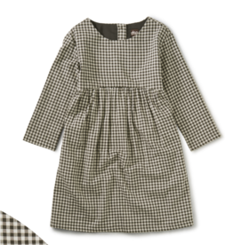 Tea Collection Check Curved Yoke Dress 3T-12