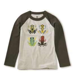 Tea Collection Cloud Forest Frogs Raglan Tee 2T-7