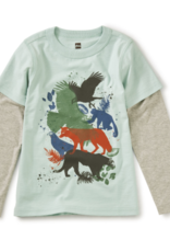 Tea Collection Wild Things Layered Tee 2T-12
