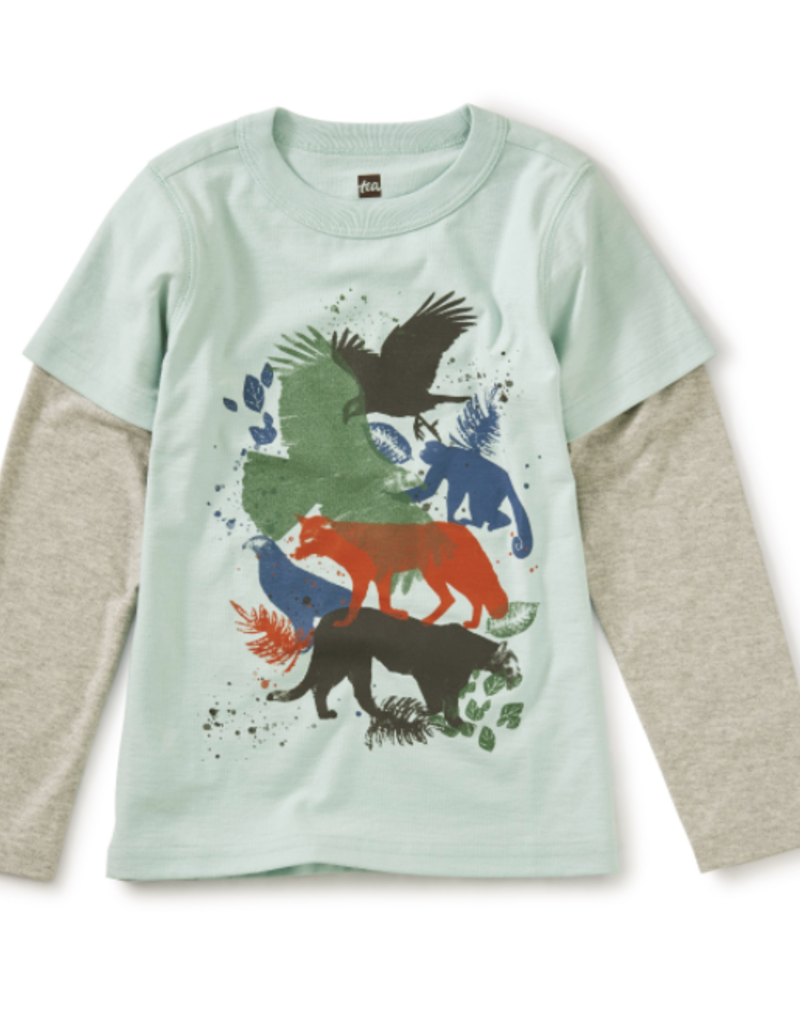 Tea Collection Wild Things Layered Tee