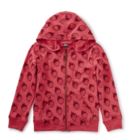 Tea Collection French Terry Zip Hoodie Roja 2T-6