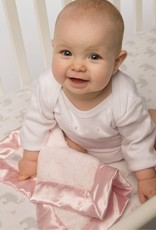 SwaddleDesigns Baby Lovie Puff Circles Coral Pink