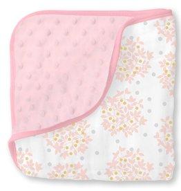SwaddleDesigns Muslin Snuggle Blanket Heavenly Floral Shimmer
