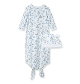 Little Me Boating Knot Gown 0/3M
