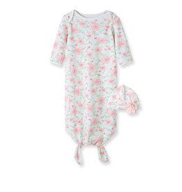 Little Me Flourish Gown w/Hat 0/3M