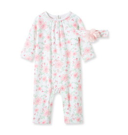 Little Me Floral Coverall NB
