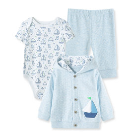 Little Me Boating Cardigan 3pc Set 3M
