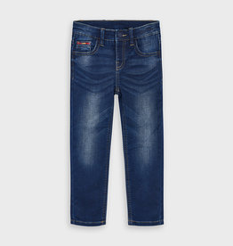 Mayoral Boys Slim Fit Denim Pants Dark 6, 7