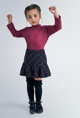 Mayoral Plaid Ruffle Skirt Navy 2-6